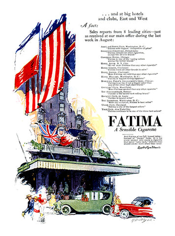 H. Davitt Walsh - Fatima Cigarettes Ad - (From Century Magazine; November, 1918)