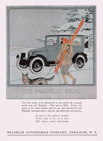 Franklin Automobile Ad - (From Century Magazine; February, 1920)