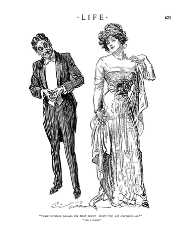 Charles Dana Gibson - All I Dared - (From Life Magazine; March 27, 1913)