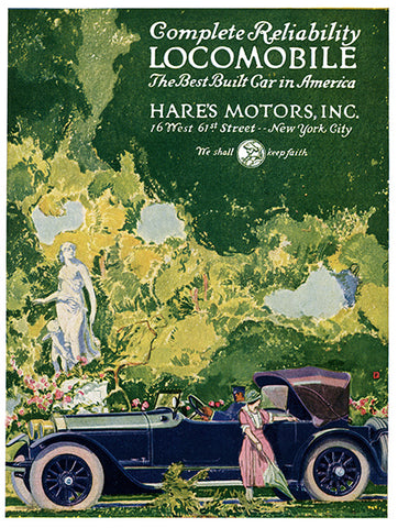 Locomobile Ad - (From Century Magazine; January, 1921)