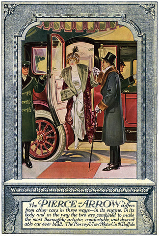 F. X. Leyendecker - Pierce-Arrow Automobile Ad - (From Country Life in America; December, 1912)