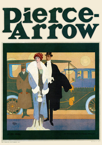 "Louis Fancher - ""At the Opera"" Pierce-Arrow Ad - (From Theatre Magazine; September, 1911)"