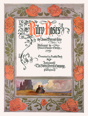 "Franklin Booth - Title Page From ""Riley Roses,"" (1909)"