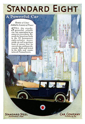 Standard Eight Ad - (From Century Magazine; September, 1919)