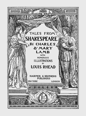 "Louis Rhead - Title Page From ""Tales From Shakespeare,"" (1918)"