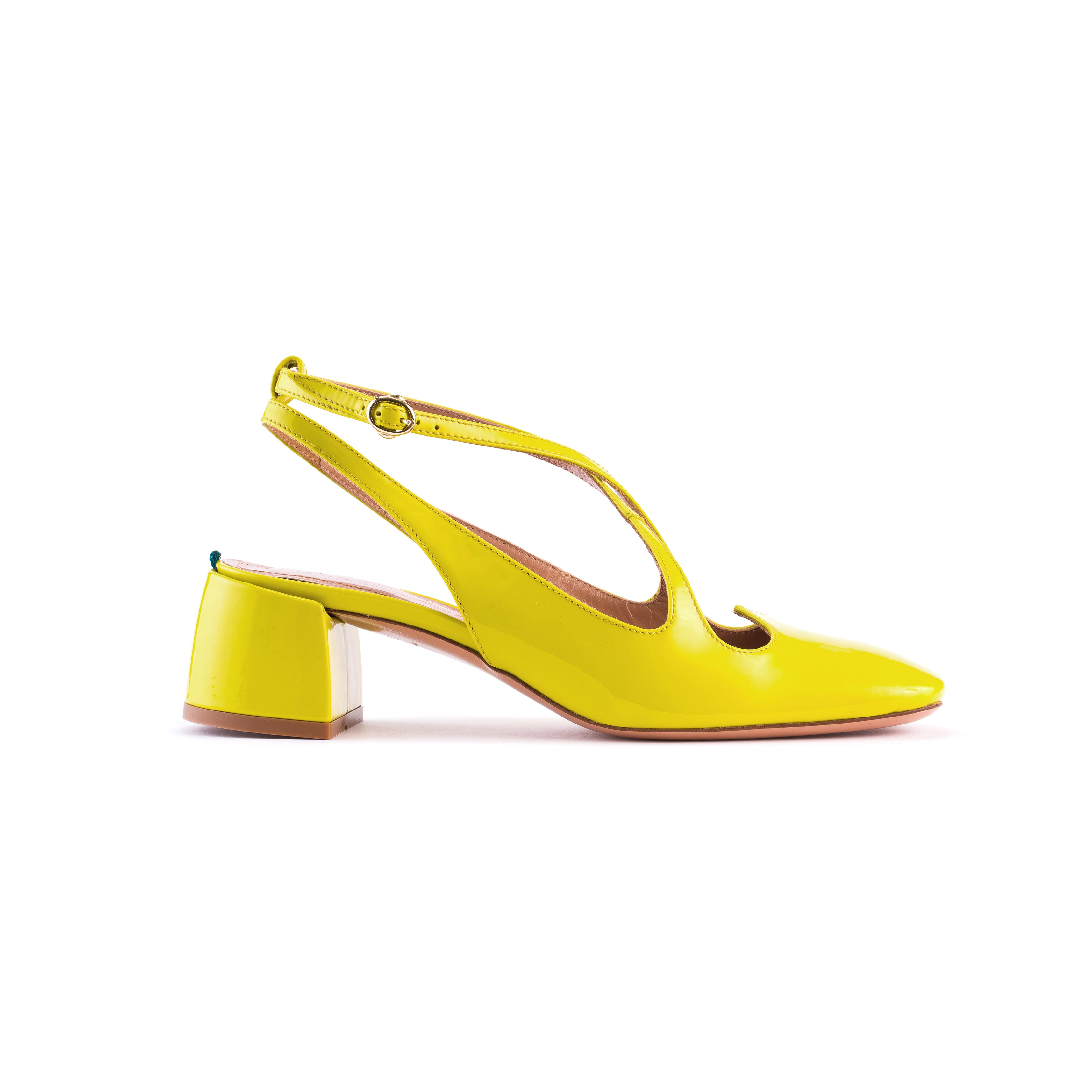 Sling Back Two for Love in vernice amarillo