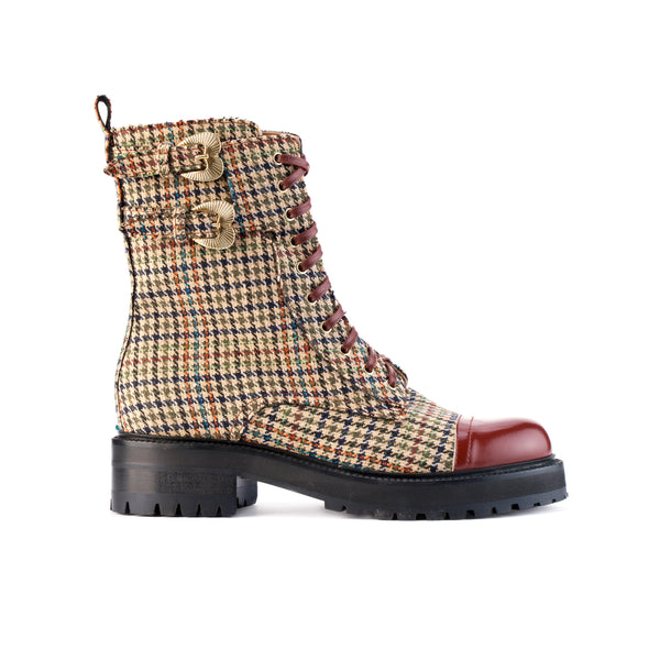 Combat boot A.Bocca in principe di Galles - Online Exclusive