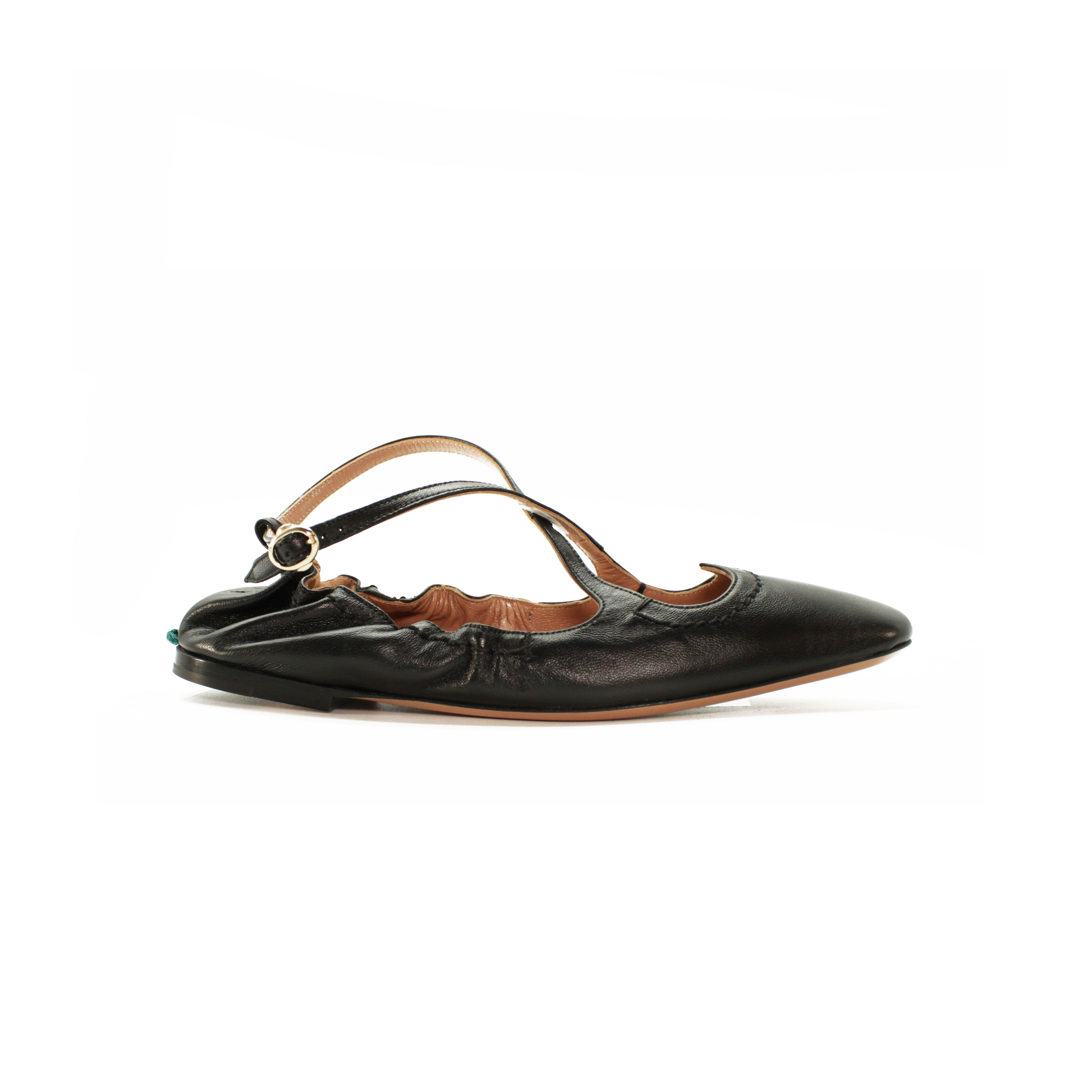 Ballerina Two for Love in nappa nera