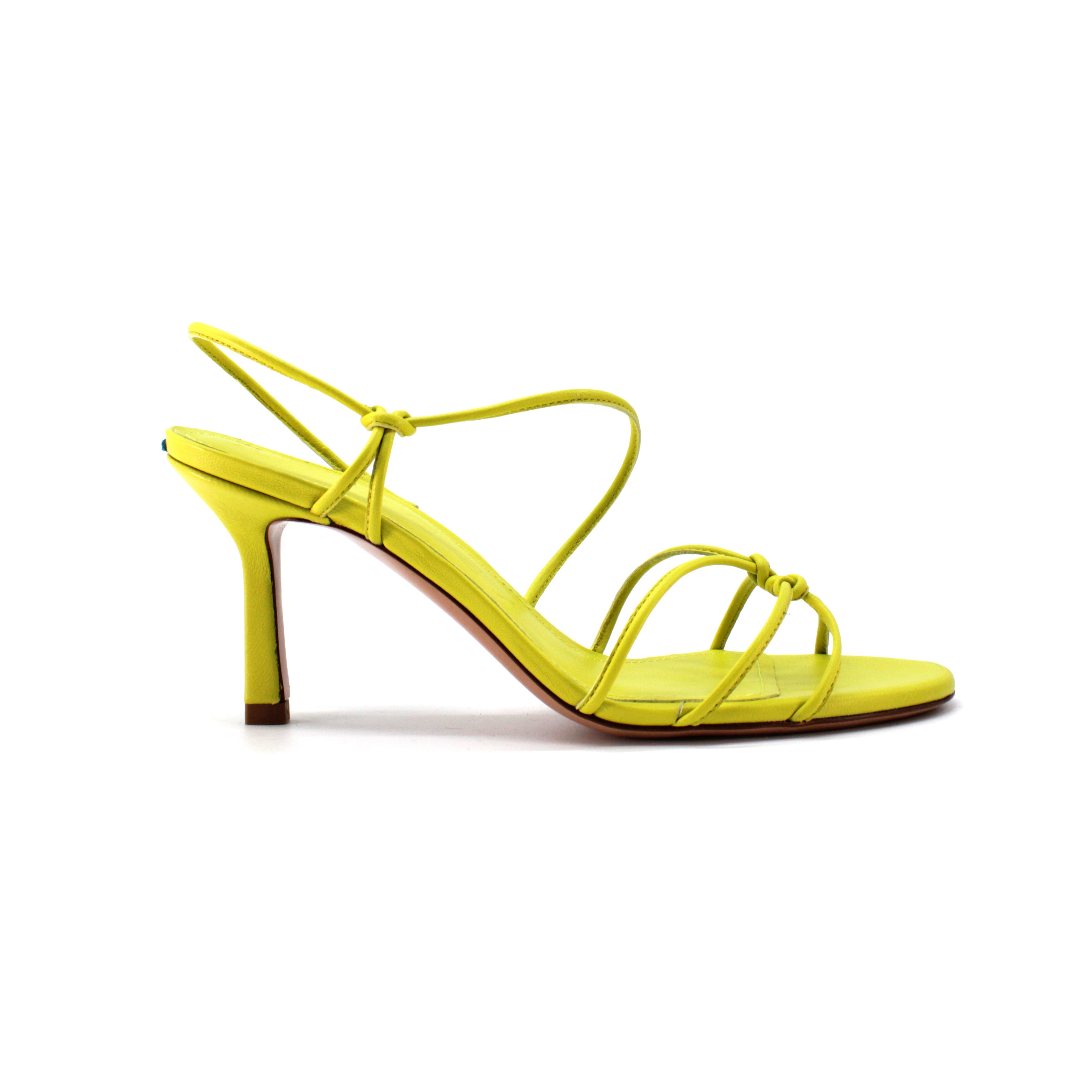 Sandalo mignon in nappa color amarillo