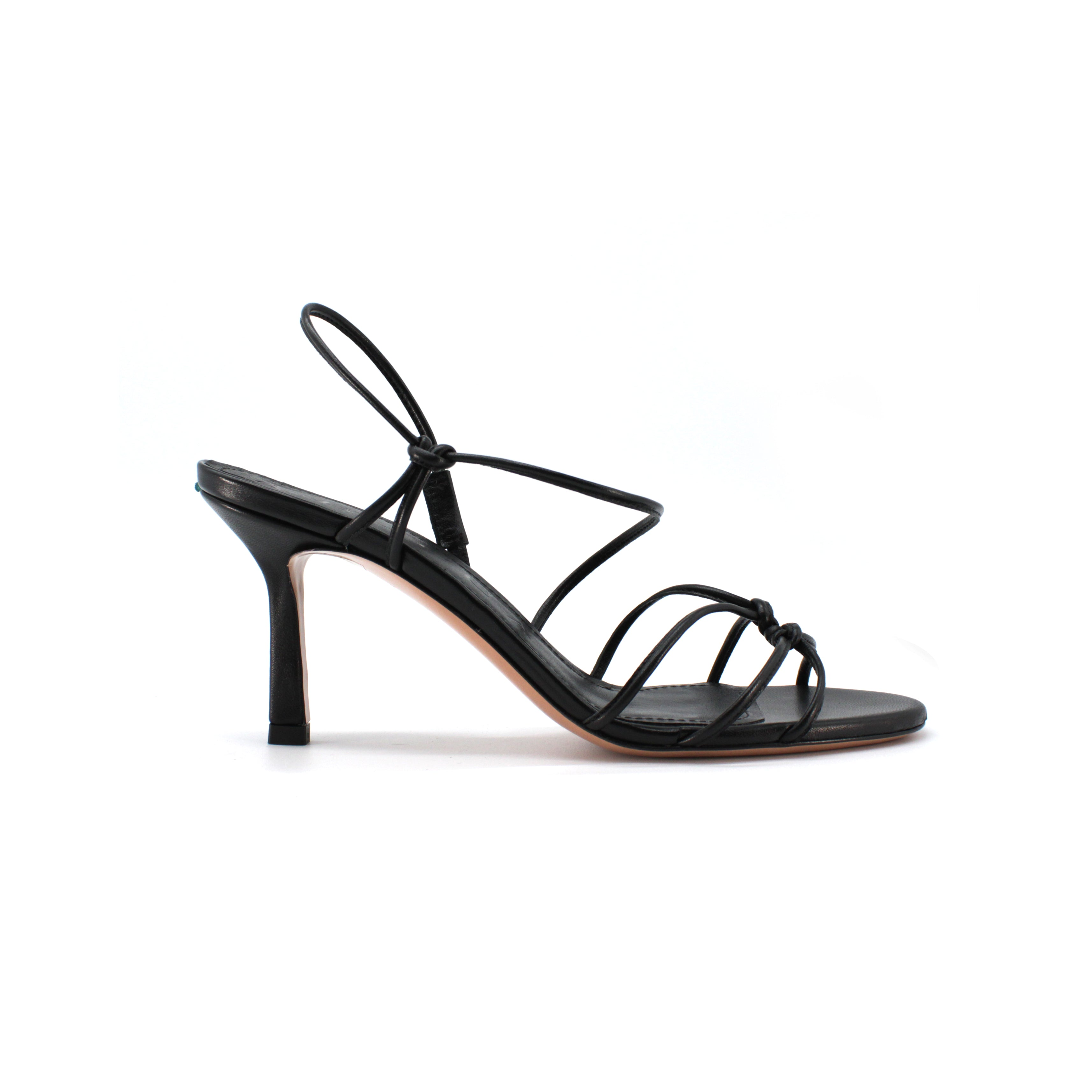 Sandalo mignon in nappa color nero