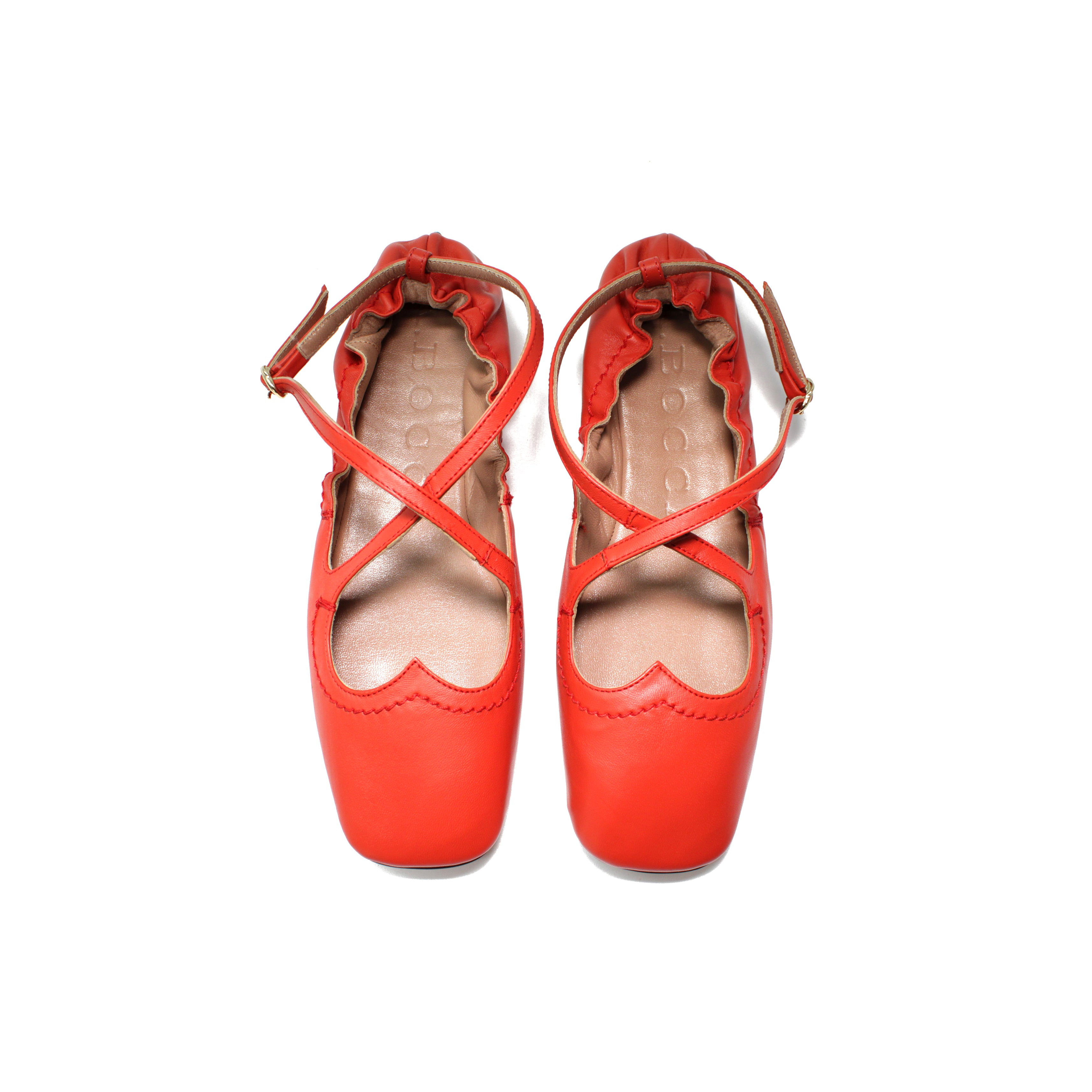 Ballerina Two for Love in nappa corallo