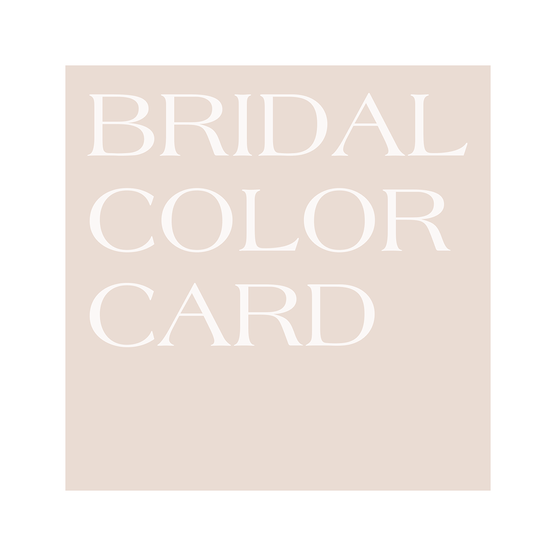 Bridal color card