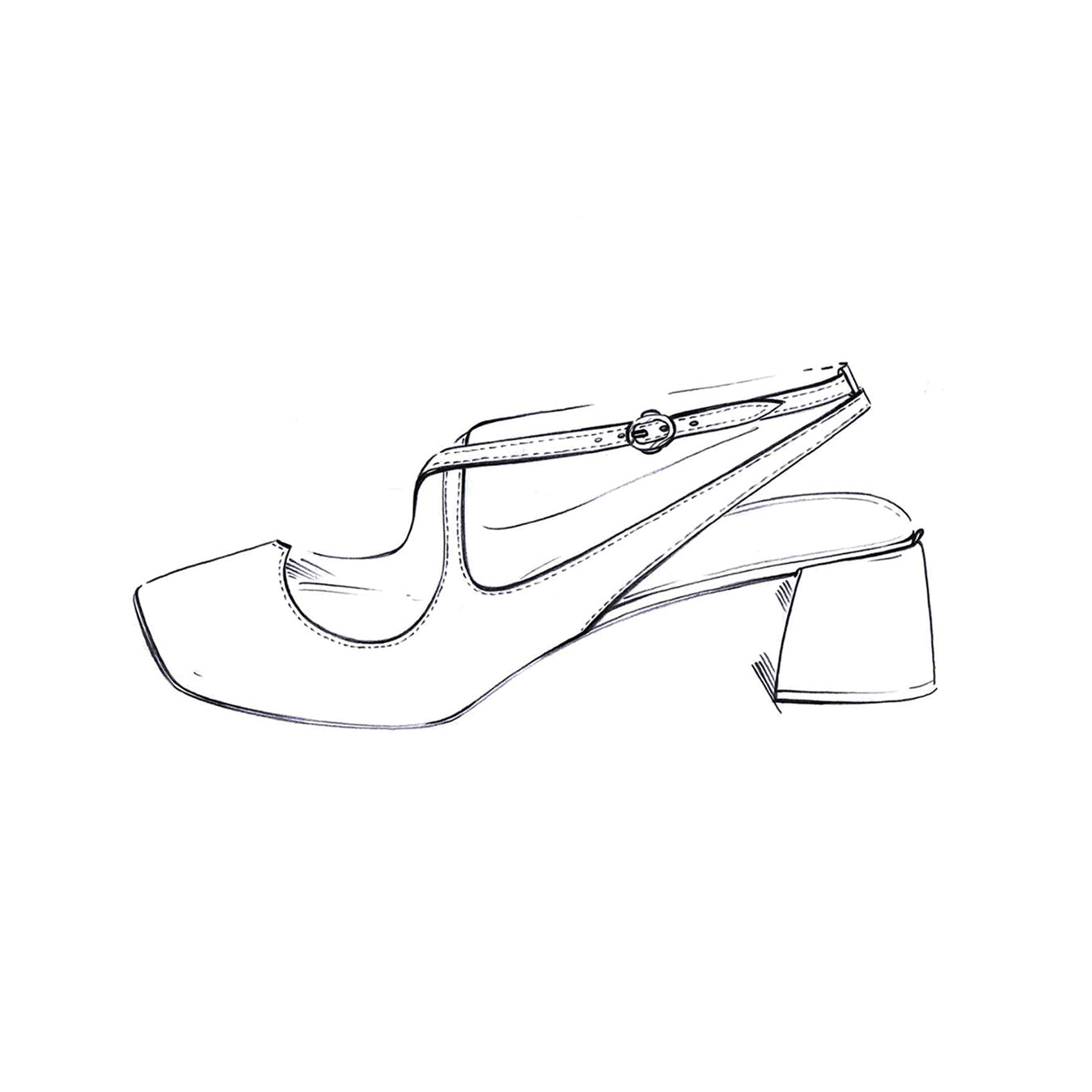 Bridal Sling back Two for Love