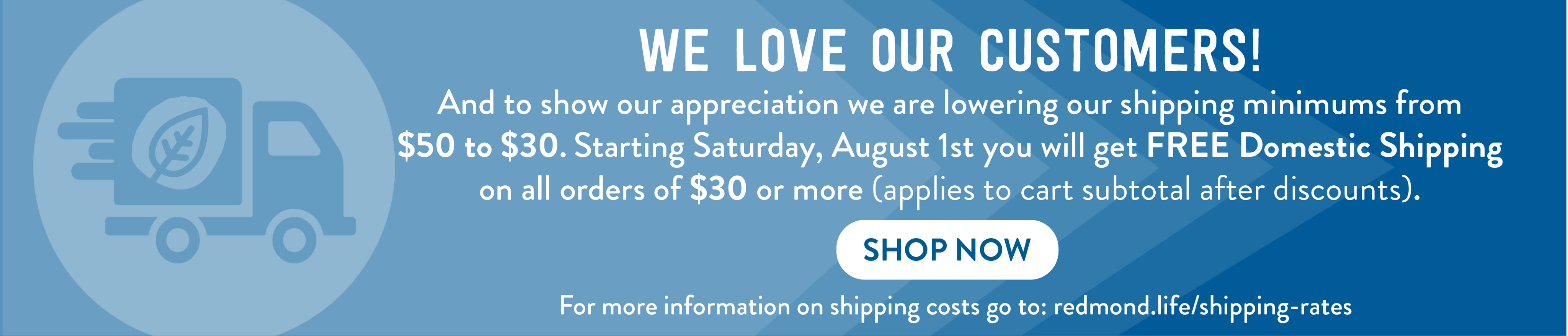 Shipping Promo Free over $30