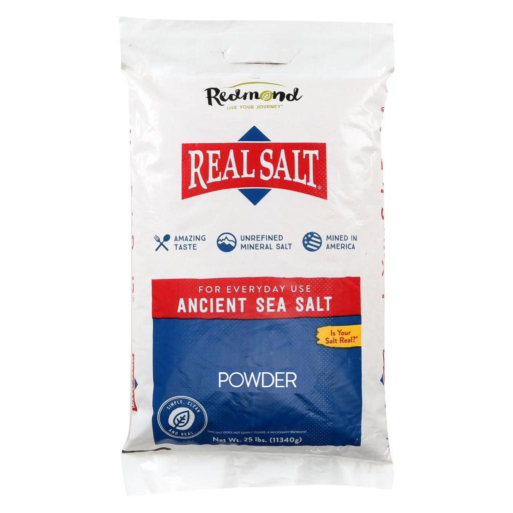 Real Salt Powder Salt Bulk (25 lb)