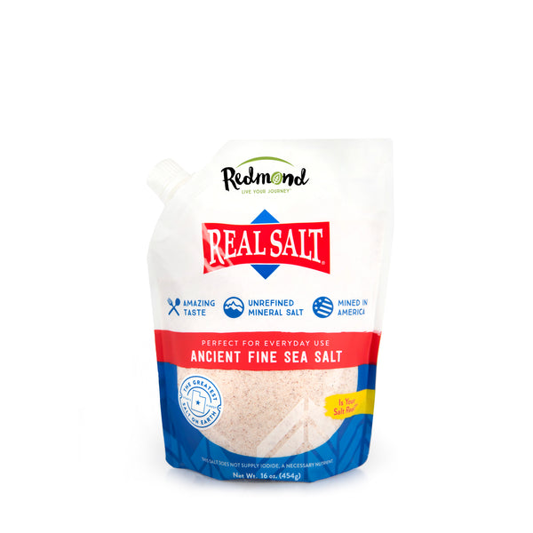 Real Salt Fine Refill Pouch (16 oz)