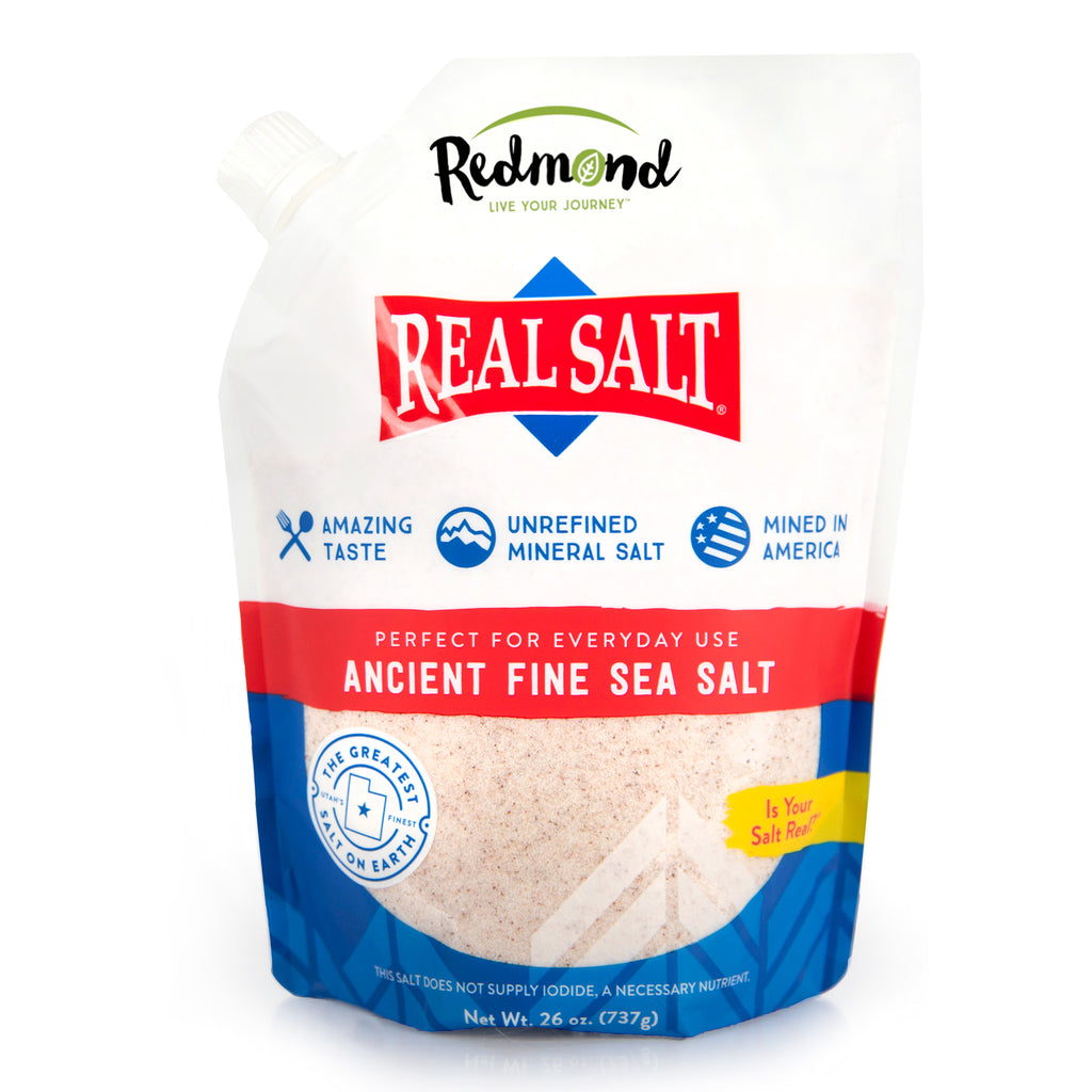 Real Salt Fine Refill Pouch (26 oz)