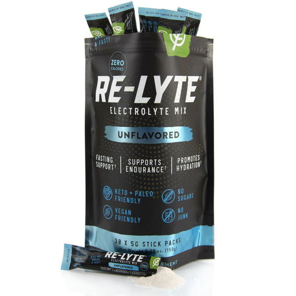 Re-Lyte Electrolyte Mix Stick Packs - Unflavored (30 ct.)