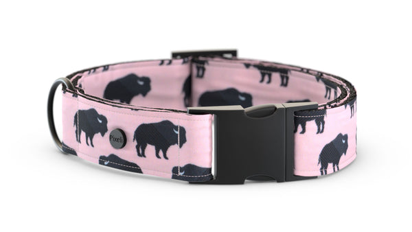 Pixeli Handmade Dog Collar - Cowgirl - Matte Black