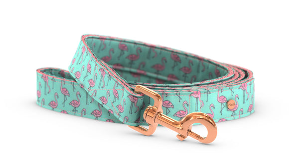 Pixeli Handmade Dog Leash - Flamingo - Rose Gold
