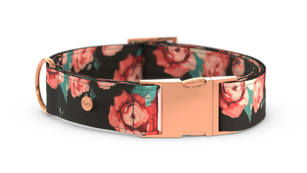 Pixeli Handmade Dog Collar - Juliet - Rose Gold