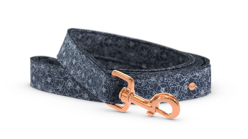 Pixeli Handmade Dog Leash - Blueblossom - Rose Gold
