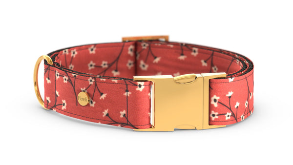 Pixeli Handmade Dog Collar - Marigold - Gold