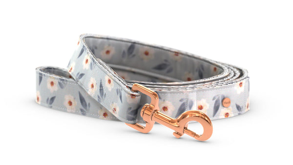Pixeli Handmade Dog Leash - Spring Flowers - Rose Gold