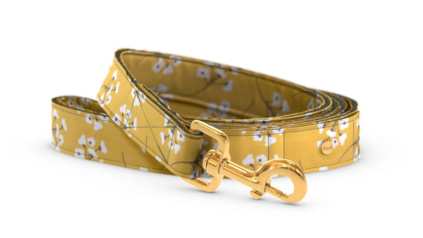 Pixeli Handmade Dog Leash - Cotton Field - Gold