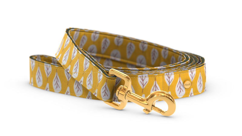 Pixeli Handmade Dog Leash - Goldenrod - Gold
