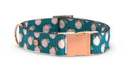 Pixeli Handmade Dog Collar - Lemonade - Rose Gold