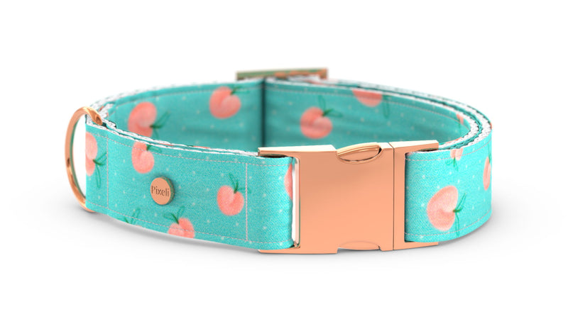 Pixeli Handmade Dog Collar - Peach - Rose Gold
