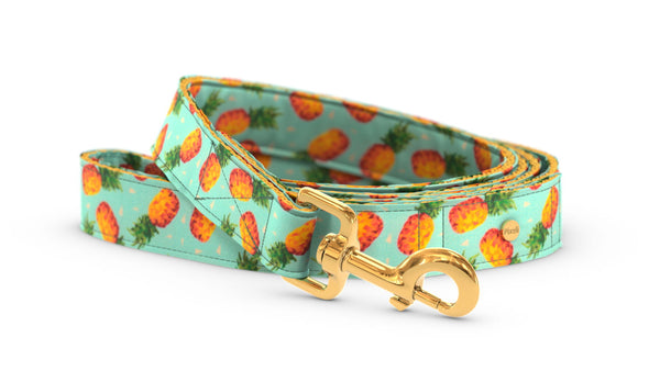 Pixeli Handmade Dog Leash - Pineapple - Gold