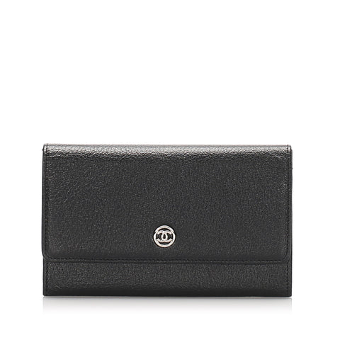 Chanel CC Leather Long Wallet