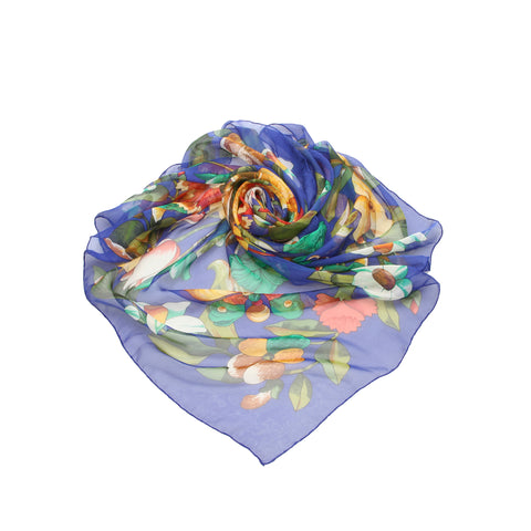 Chanel Printed Silk Scarf