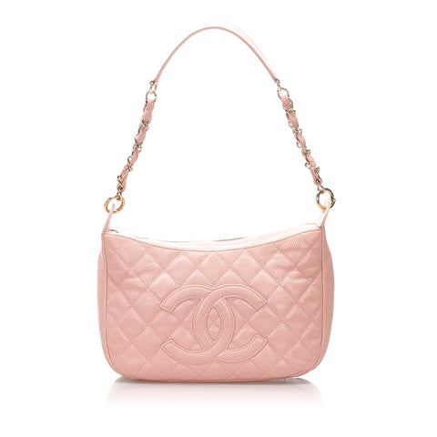 Chanel CC Caviar Leather Shoulder Bag