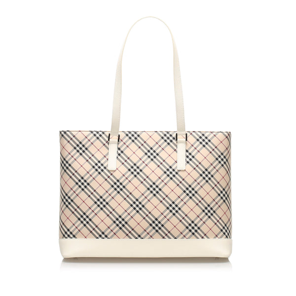 Burberry Nova Check Canvas Tote Bag