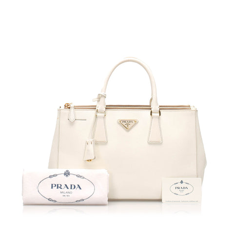 Prada Saffiano Galleria Double Zip Handbag