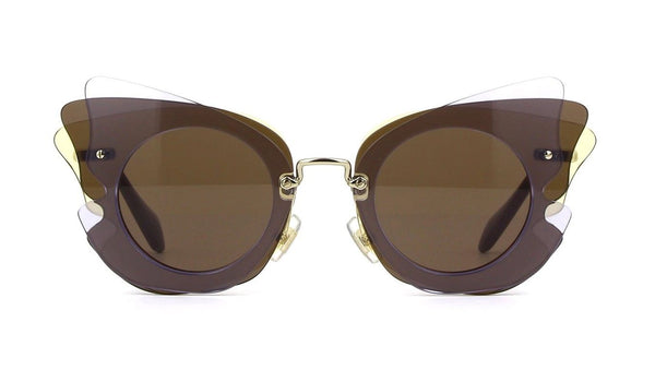 Miu Miu Women's Over Lapping Butterfly Sunglasses Lilac