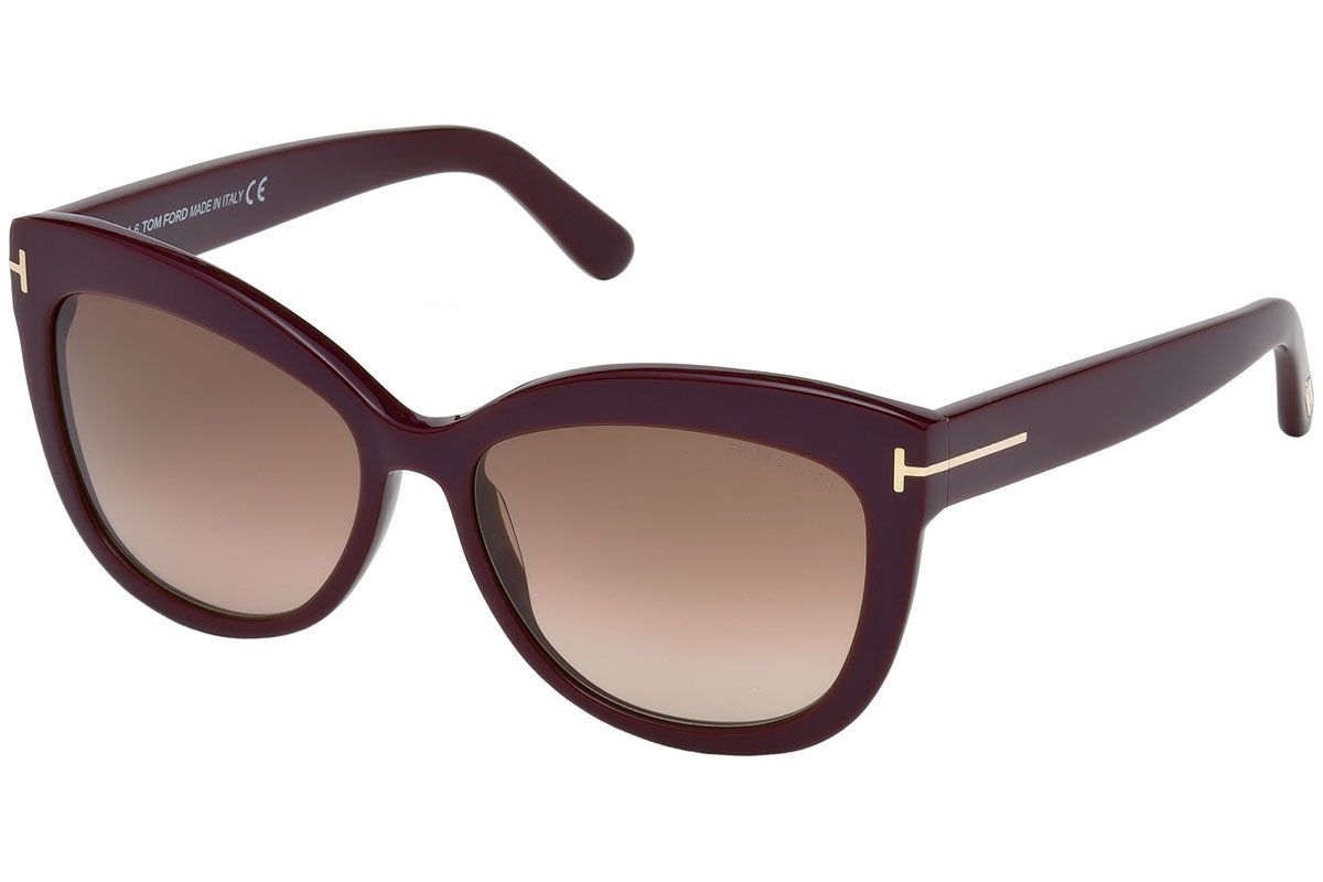 6e9aca83b162f Tom Ford Alistair Sunglasses Violet Light Brown Gradient Unisex FT0524 83F