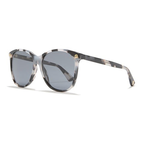 Gucci Cat Eye Women's Sunglasses Havana W/Grey Lens GG0024S 009