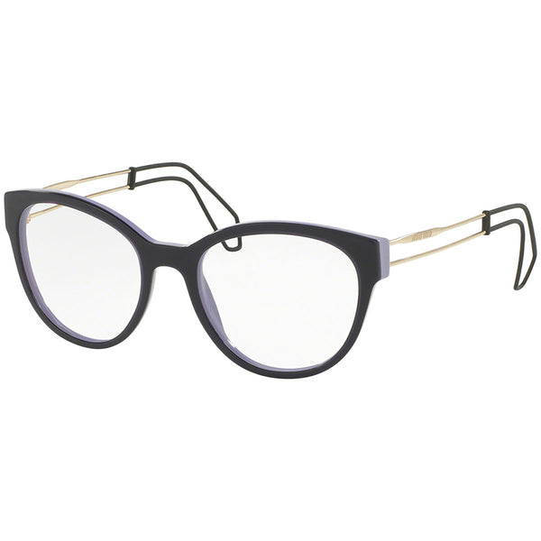 Miu Miu Cat Eye Women's Violet Eyeglasses Demo Lens