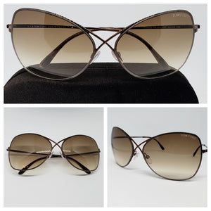Tom Ford Women's Butterfly Sunglasses Gradient TF0250/S 48F