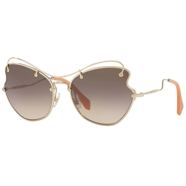Miu Miu Butterfly Style Women's Sunglasses Brown Lens 61mm