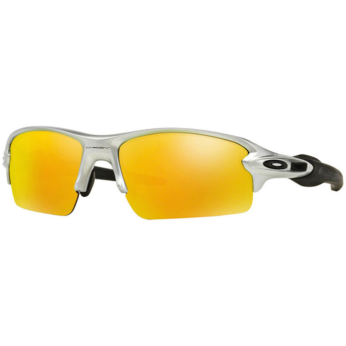 Oakley Unisex Sunglasses Flak 2.0 Silver Fire Iridium Mirrored OO9295-02