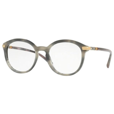 Burberry Round Women's Eyeglasses Grey / Brown Frame w/Demo Lens BE2264 3658