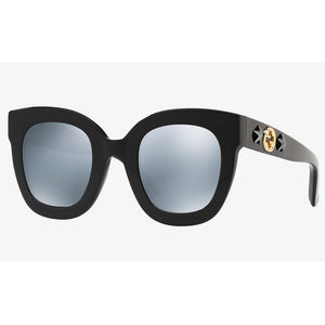 Gucci Women's Sunglasses W/Grey Silver Mirrored Lens GG0208S-002