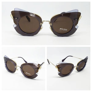 Miu Miu Women's Over Lapping Butterfly Sunglasses | Full View