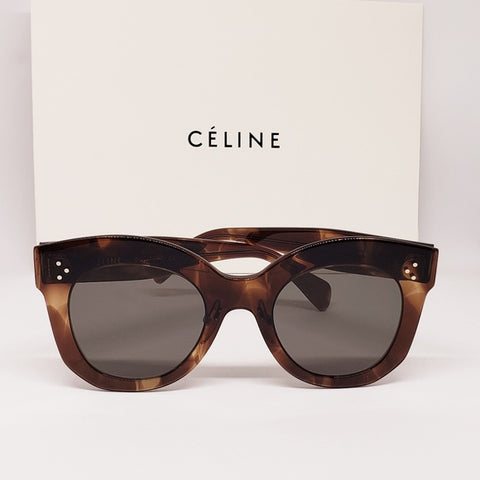 Celine Chris Sunglasses Havana Butterfly Women's CL41443/S 07B2K