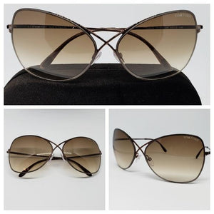 Tom Ford Colette Butterfly Women's Sunglasses Brown Frame